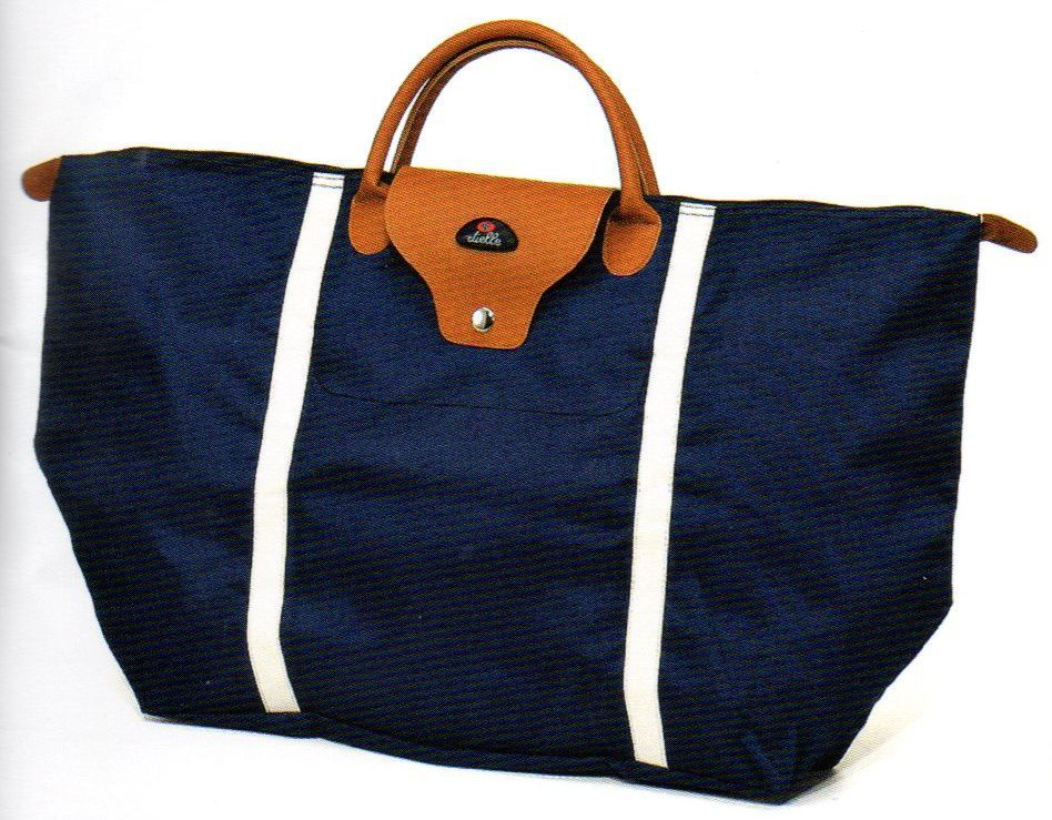 Nákupní skládací taška Dielle BS-3-05 modrá