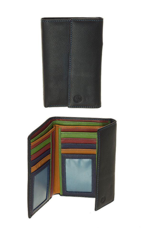 Peněženka Carraro Multicolour 837-MU-01 černá