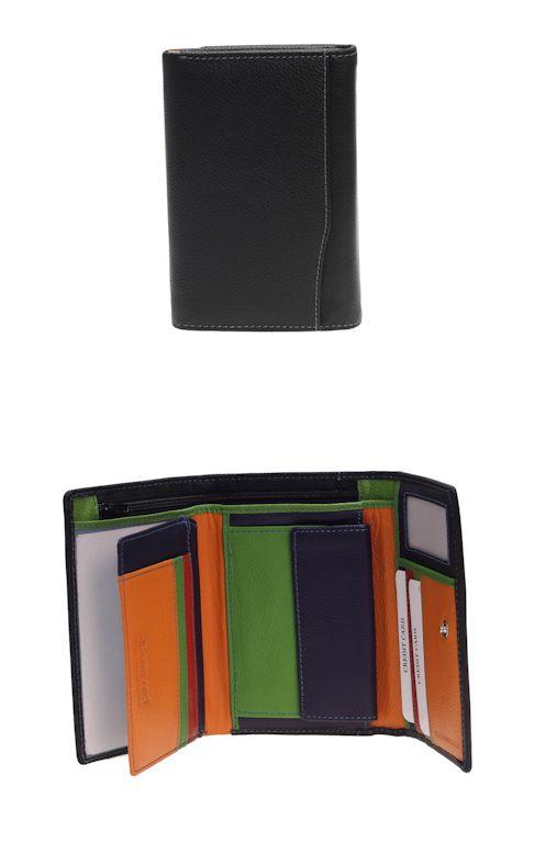 Peněženka Carraro Multicolour 838-MU-01 černá
