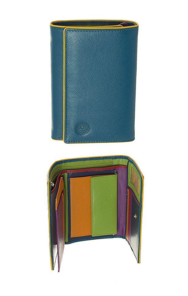 Peněženka Carraro Neon 854-NN-38 tyrkysová