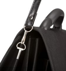 Aktovka REAbags 7253-T - černá/nikl E-batoh