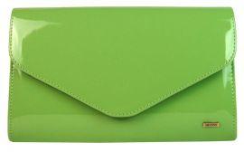 Jablíčkově zelená lakovaná společenská listová kabelka SP102 GROSSO