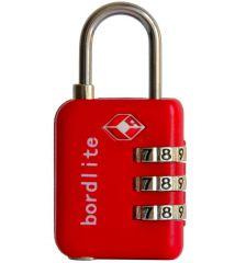 Visací kódový zámek TSA Bordlite - červený