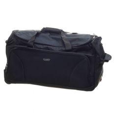 Textilní cestovní taška 65 cm na kolečkách v černé barvě dielle 476-01 E-batoh