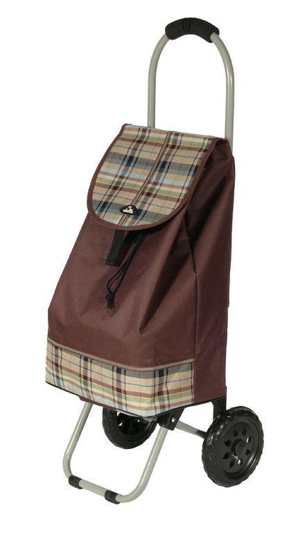 Nákupní taška na kolečkách Dielle CARR1-25 hnědá