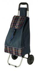 Nákupní taška na kolečkách Dielle CARR2-05 modrá