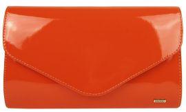 Oranžová lakovaná společenská listová kabelka SP102 GROSSO