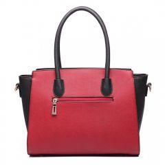 Moderní červeno-černá kabelka Miss Lulu Lulu Bags (Anglie) E-batoh