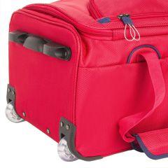 Odolná cestovní taška se dvěma kolečky March Go-Go Bag L Red E-batoh