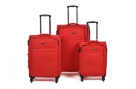 Trolley-CASE TC-888 4w sada 3 kufru červené