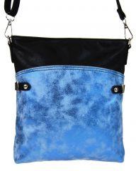 Elegantní malá dámská crossbody kabelka 16216 modro-černá