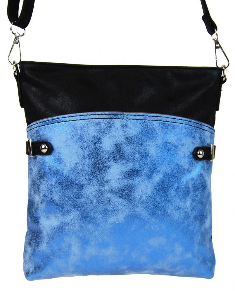 Tapple Elegantní malá dámská crossbody kabelka 16216 modro-černá