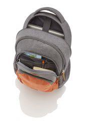 Travelite Basics Backpack Melange Green/grey E-batoh