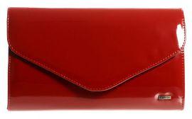 Červená společenská listová kabelka SP102 GROSSO