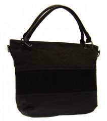 Černá dámská kabelka s pruhy AE-0903 New Berry