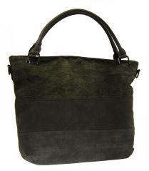 Tmavě šedá dámská kabelka s pruhy AE-0903 New Berry