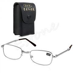 SKLÁDACÍ dioptrické brýle silver PDR 62-64  +1,00