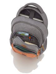 Travelite Basics Backpack Melange Navy/grey E-batoh