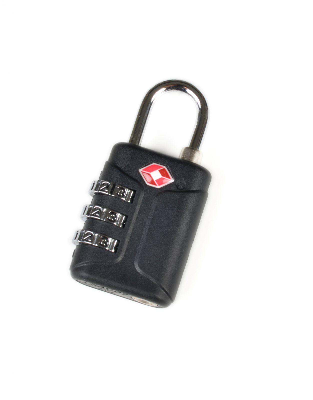Visací zámek TSA s kódem černý