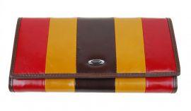 Luxusní kávová kožená dámská magnetická peněženka v krabičce Cossroll 261-9813B