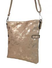 Elegantní malá dámská crossbody kabelka 16216 zlato-stříbrná Tapple E-batoh