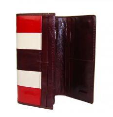Luxusní bordová kožená dámská magnetická peněženka v krabičce Cossroll 261-9813B E-batoh