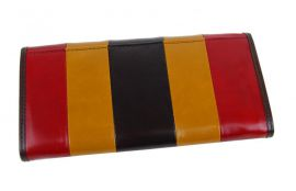 Luxusní kávová kožená dámská magnetická peněženka v krabičce Cossroll 261-9813B E-batoh