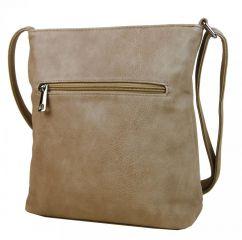 Crossbody dámská kabelka s výšivkami YH1636 přírodně hnědá NEW BERRY E-batoh