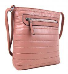 Elegantní prošívaná crossbody kabelka YH1602 růžová