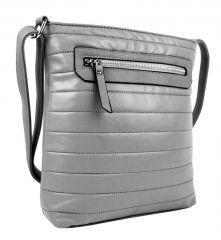 Elegantní prošívaná crossbody kabelka YH1602 šedá