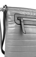 Elegantní prošívaná crossbody kabelka YH1602 šedá New Berry E-batoh
