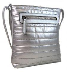 Elegantní prošívaná crossbody kabelka YH1602 stříbrná