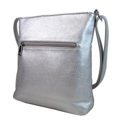 Elegantní prošívaná crossbody kabelka YH1602 stříbrná New Berry E-batoh
