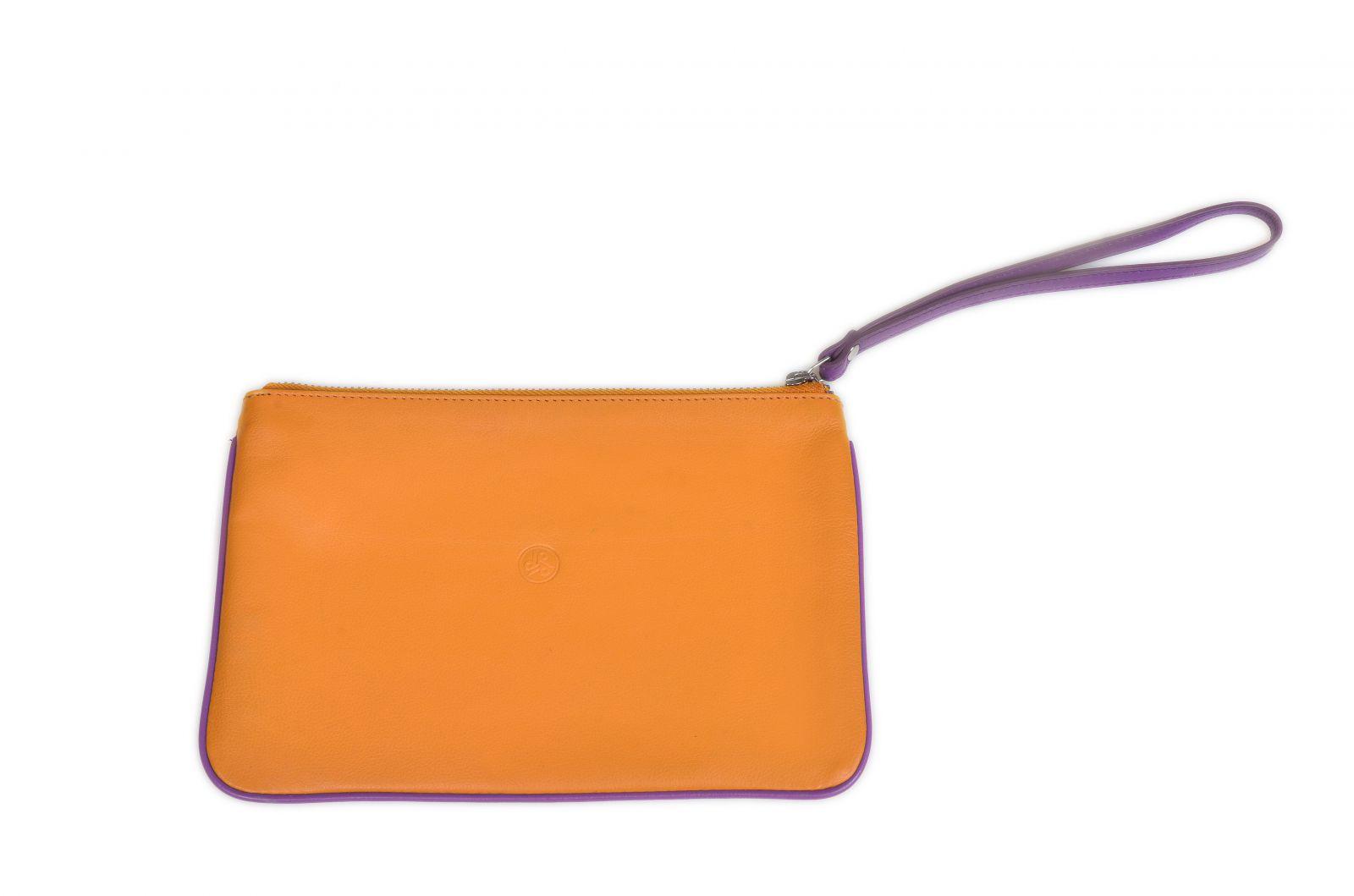 Kožené pouzdro na doklady Carraro Neon M 866-NN-64 okrová E-batoh