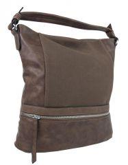 Moderní přírodně hnědá dámská kombinovaná kabelka NH6058
