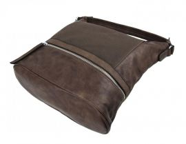 Moderní přírodně hnědá dámská kombinovaná kabelka NH6058 NEW BERRY E-batoh