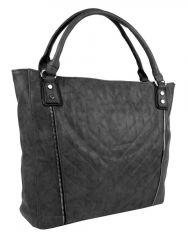 Moderní velká šedá dámská prošívaná kabelka přes rameno YH1651