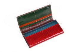Luxusní černá kožená dámská magnetická peněženka v krabičce Cossroll 14071-9813B E-batoh