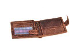 Peněženka pánská HUNTERS 324 tabáková v krabičce na patent E-batoh