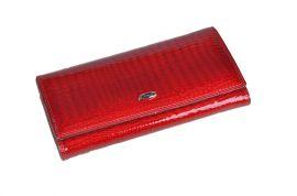 Luxusní červená kožená dámská magnetická peněženka v krabičce Cossroll 14071-9813C