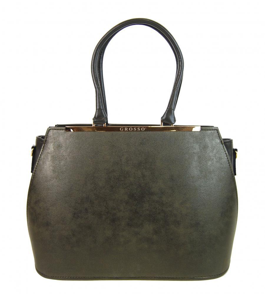 4dee1c6671 Zeleno-šedá jemně metalická dámská elegantní kabelka S700 GROSSO E-batoh