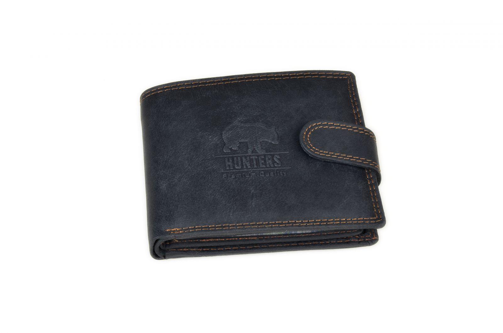 Peněženka pánská 324 BL HUNTERS black v krabičce na patent