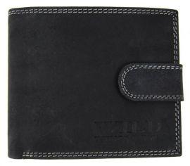Pánská peněženka z broušené kůže WILD C-5700L černá