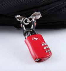 Bezpečnostní lankový TSA kódový zámek ROCK TA-0004 - černá E-batoh