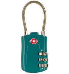 Bezpečnostní lankový TSA kódový zámek ROCK TA-0004 - zelená E-batoh
