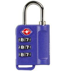 Bezpečnostní TSA kódový zámek na zavazadla ROCK TA-0006 - modrá