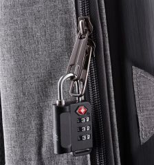 Bezpečnostní TSA kódový zámek na zavazadla ROCK TA-0006 - stříbrná E-batoh