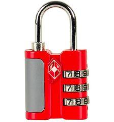 Bezpečnostní TSA kódový zámek na zavazadla ROCK TA-0005 - červená