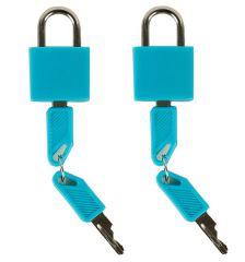 Bezpečnostní zámky na zavazadla ROCK 2ks TA-0009 - modrá