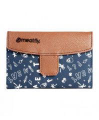 PĚNĚŽENKA MEATFLY MADELINE WALLET F - BROWN, BLUE